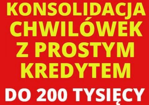 Konsolidacja chwilówek z prostym kredytem do 200 tys